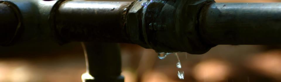 waterleiding die lekt